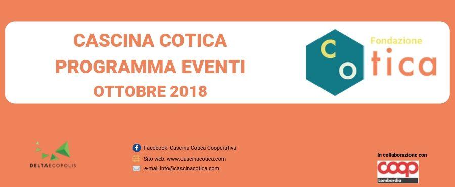 Eventi mese di Ottobre in Cascina Cotica
