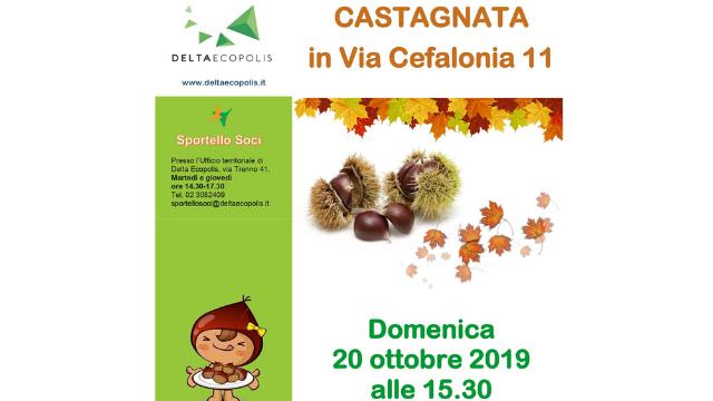 Castagnata in via Cefalonia