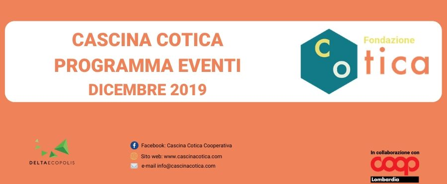 Eventi mese di Dicembre in Cascina Cotica