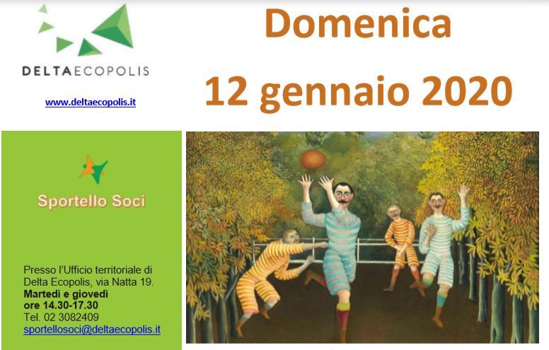 Domenica 12 Gennaio 2020, visita guidata alla mostra Da Van Gogh a Picasso